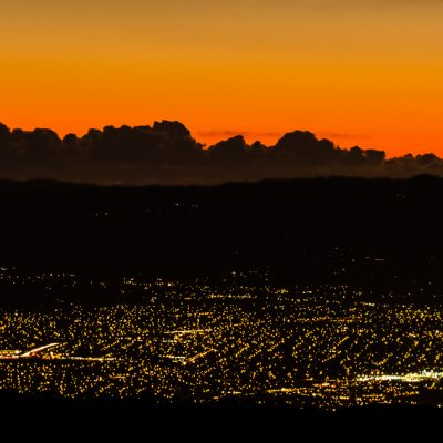 Night view to Silicon Valley from Mount Hamilton